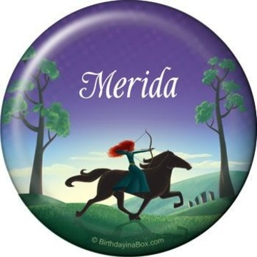 Brave Princess Personalized Button (each)