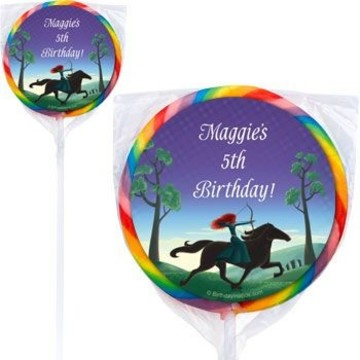 Brave Princess Personalized Lollipops (pack of 12)