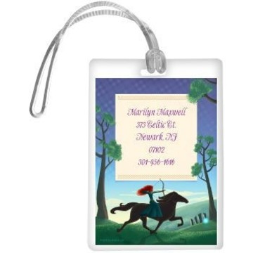 Brave Princess Personalized Luggage Tag (each)