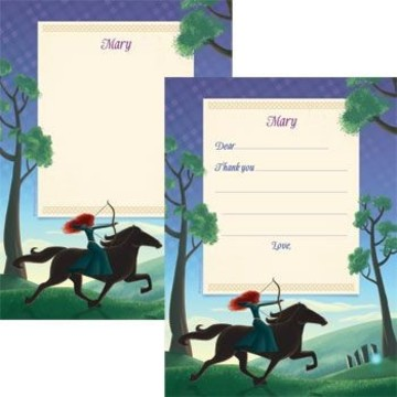 Brave Princess Personalized Thank You Note (each)