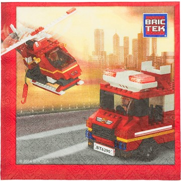 Bric Tek Firefighter Luncheon Napkins (16 Pack)