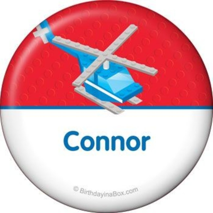 View larger image of Brick City Personalized Button (each)