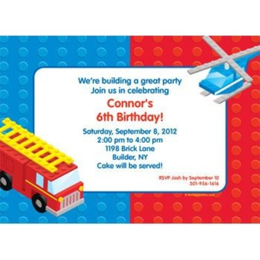 View larger image of Brick City Personalized Invitation (each)