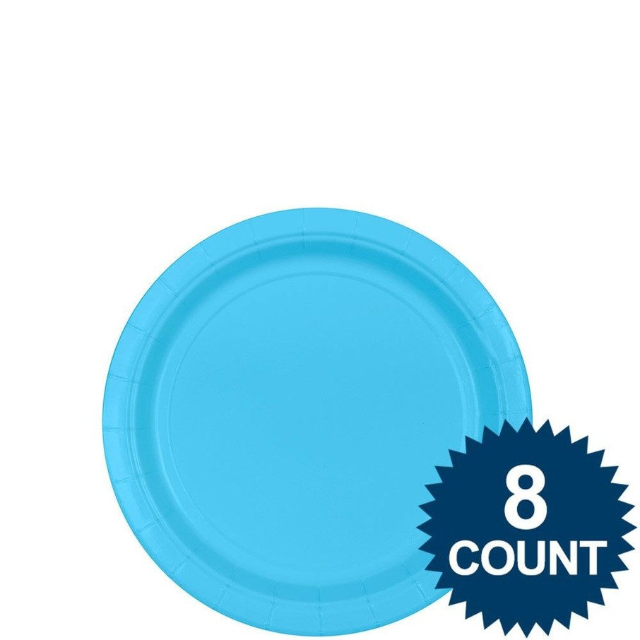 """View larger image of Bright Blue 7"""" Paper Plate, 8ct."""