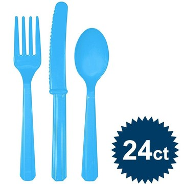 Bright Blue Cutlery Set