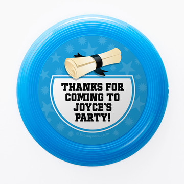 Bright Blue Grad Personalized Mini Discs (Set of 12)
