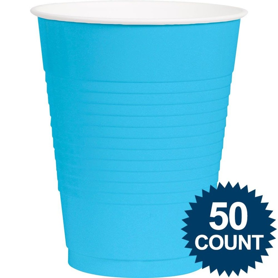 View larger image of Bright Blue Plastic 16oz. Cup (50 Pack)