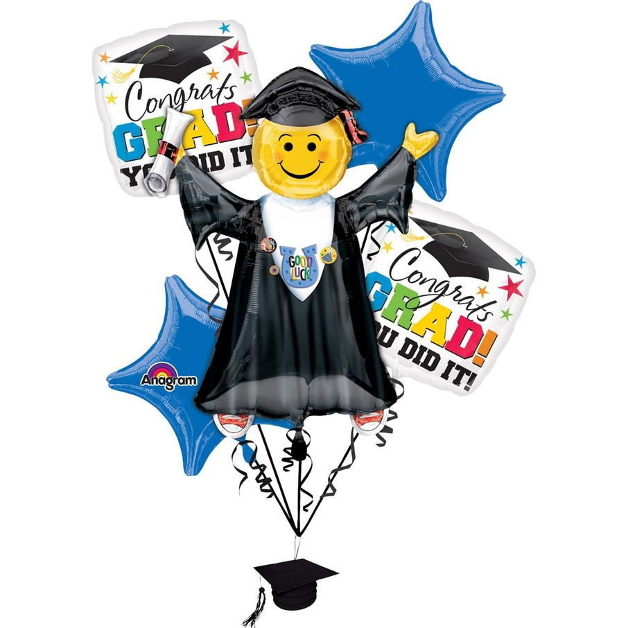 View larger image of Bright Grad You Did It Balloon Bouquet (Each)