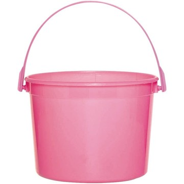 Bright Pink Plastic Bucket