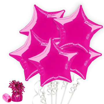 Bright Pink Star Balloon Bouquet Kit
