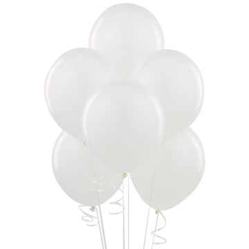 Bright White (White) Latex Balloons