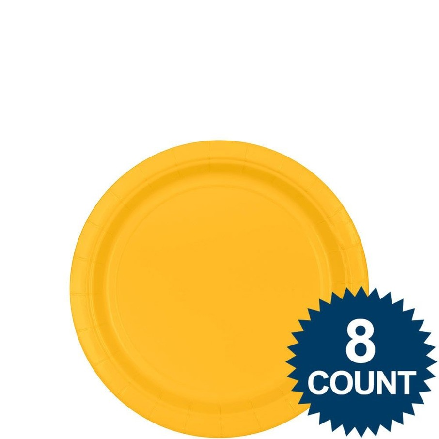 """View larger image of Bright Yellow 7"""" Paper Plate, 8ct."""