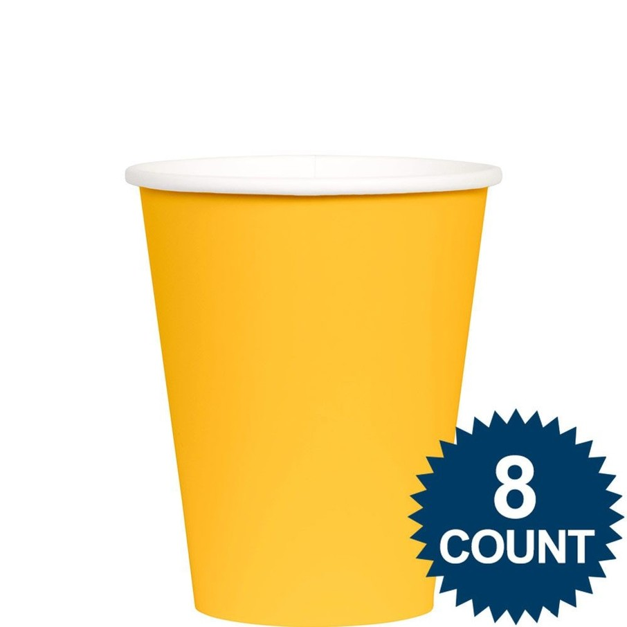 View larger image of Bright Yellow 9 oz. Paper Cup, 8ct.