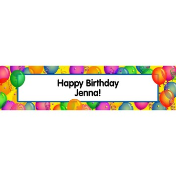 Brilliant Balloons Personalized Banner (Each)