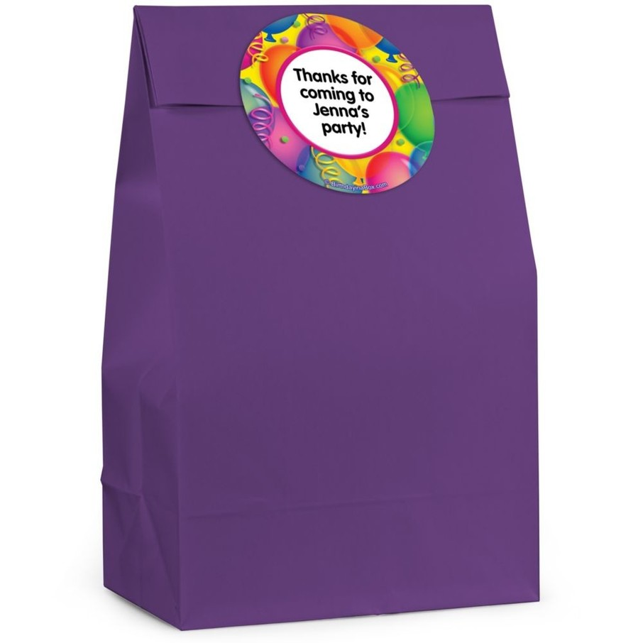 View larger image of Brilliant Balloons Personalized Favor Bag (Set Of 12)