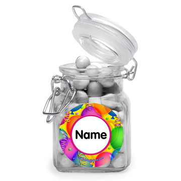 Brilliant Balloons Personalized Glass Apothecary Jars (12 Count)