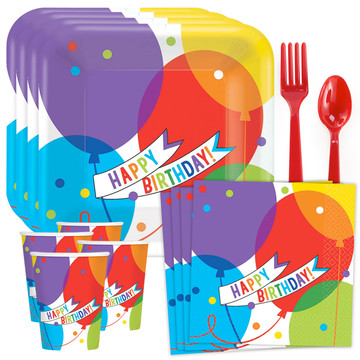 Brilliant Balloons Standard Tableware Kit (Serves 18)