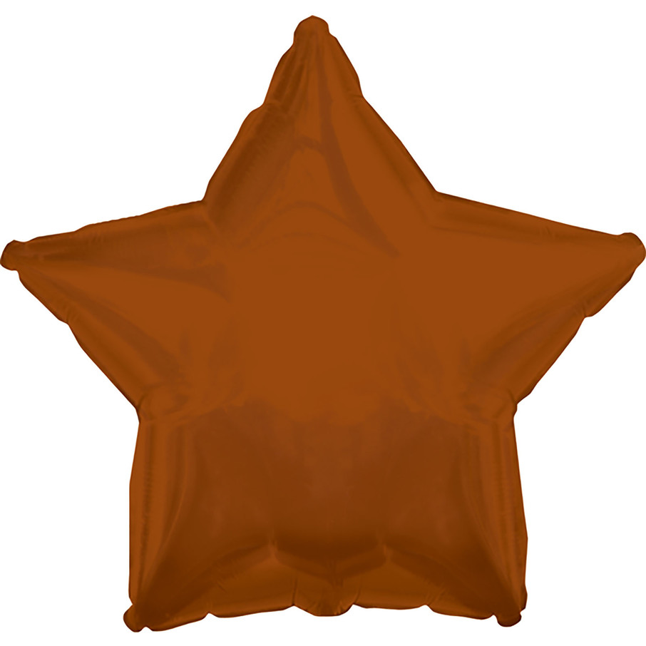 View larger image of Brown Star Foil Balloon