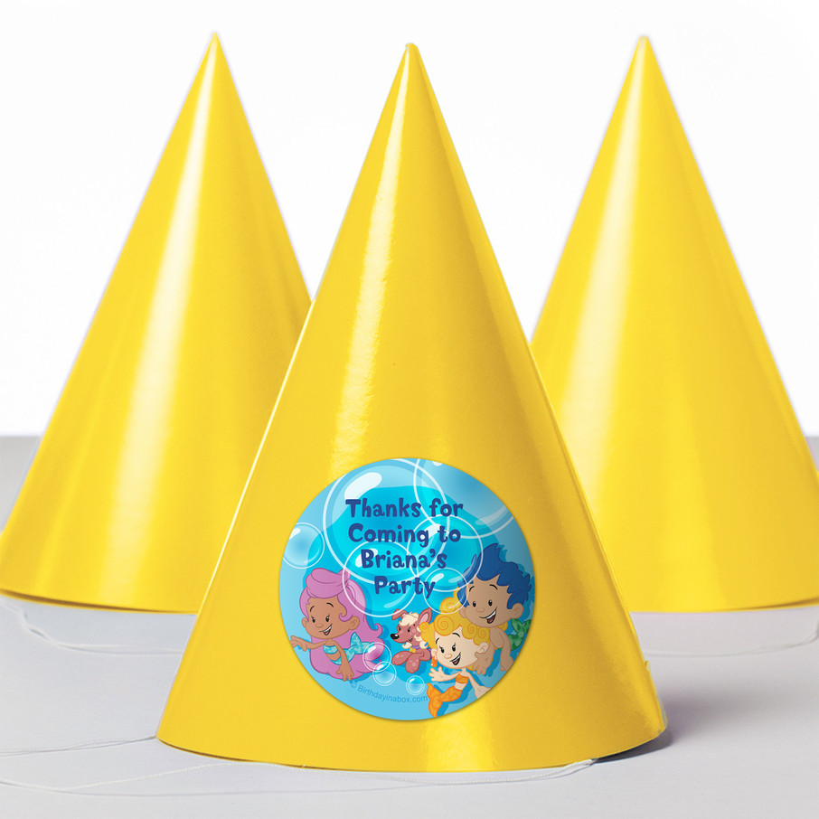 View larger image of Bubble Friends Personalized Party Hats (8 Count)
