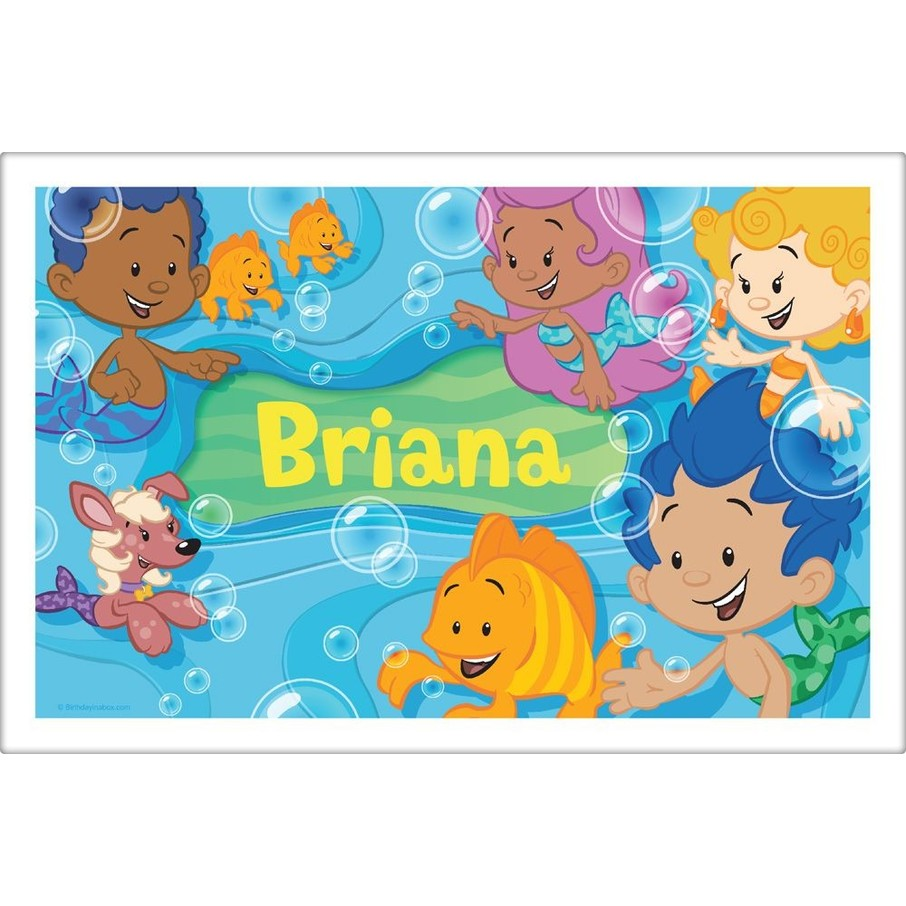 View larger image of Bubble Friends Personalized Placemat (Each)