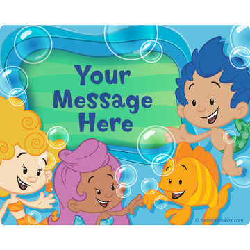 Bubble Friends Personalized Rectangular Stickers (Sheet of 15)