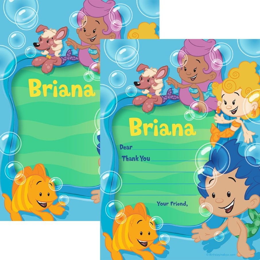 View larger image of Bubble Friends Personalized Thank You (Each)
