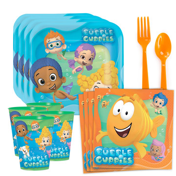 Bubble Guppies Standard Tableware Kit With Plastic Favor Cups (Serves 8)