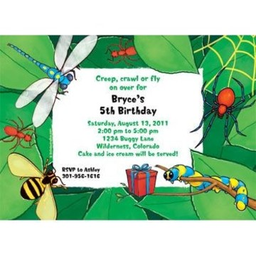 Bugs Personalized Invitation (each)