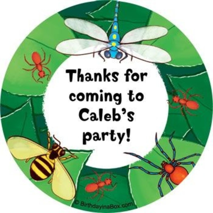 View larger image of Bugs Personalized Stickers (sheet of 12)