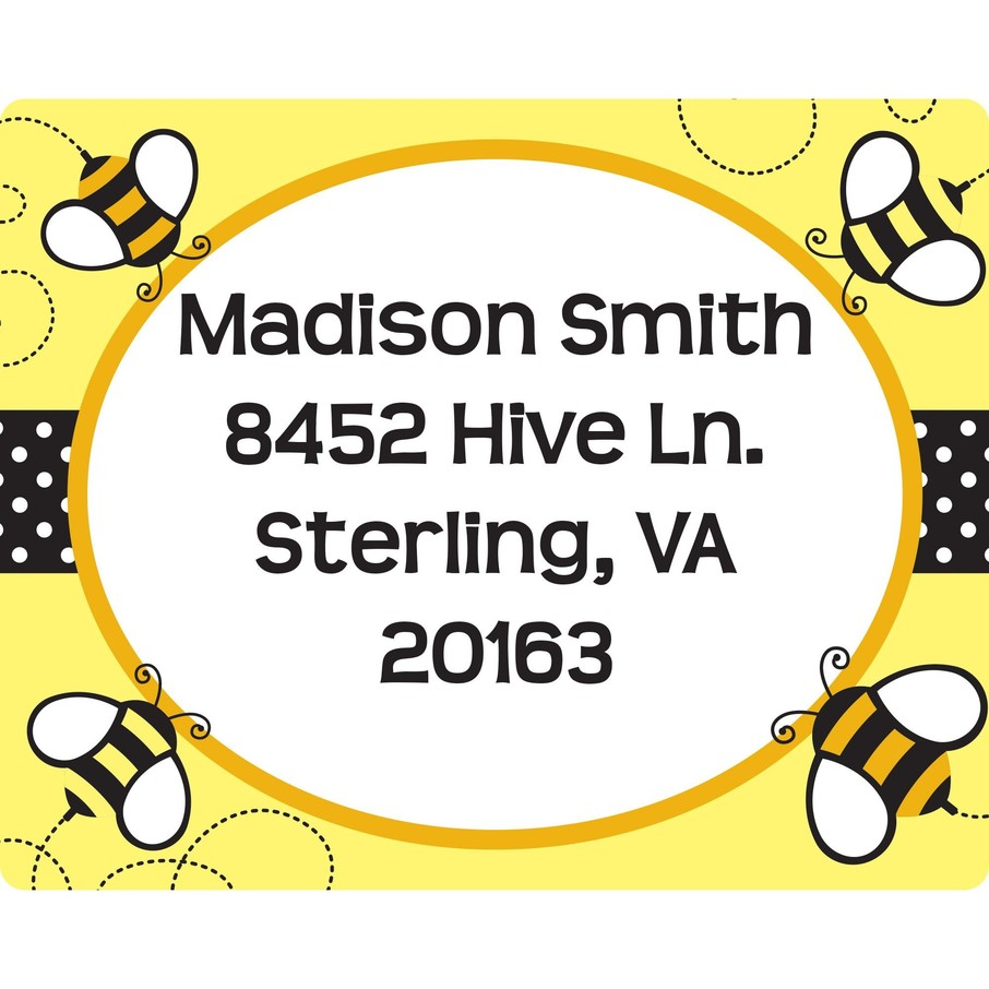 View larger image of Bumble Bee Personalized Address Labels (Sheet of 15)