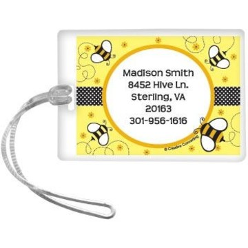 Bumble Bee Personalized Luggage Tag (each)