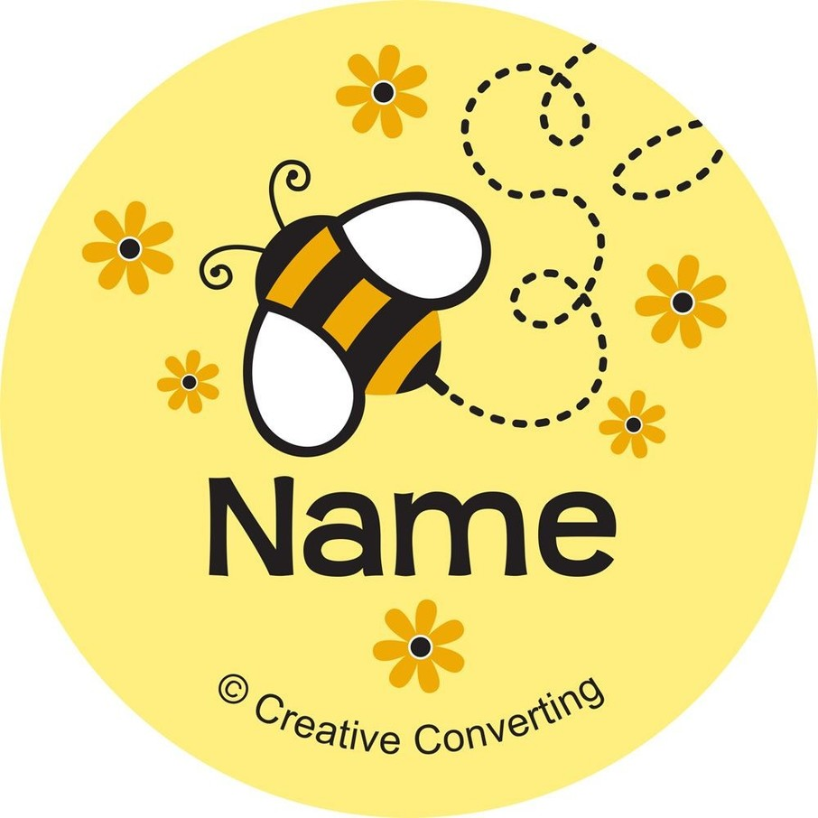 View larger image of Bumble Bee Personalized Mini Stickers (Sheet of 24)