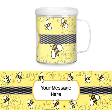 Bumble Bee Plastic Personalized Favor Mugs (Each)