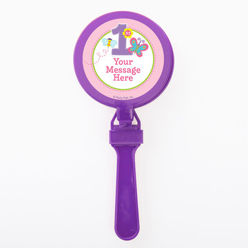 Butterfly 1st Birthday Personalized Clappers (Set of 12)