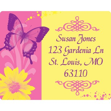 Butterfly Birthday Personalized Address Label