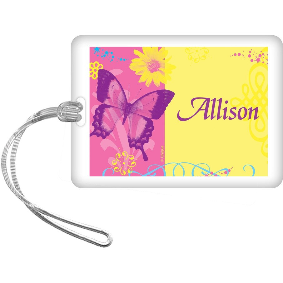 View larger image of Butterfly Birthday Personalized Bag Tag (each)