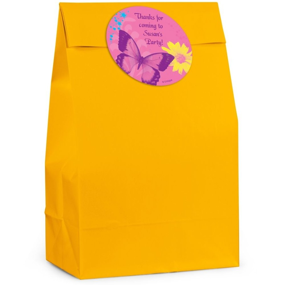 View larger image of Butterfly Birthday Personalized Favor Bag (Set Of 12)