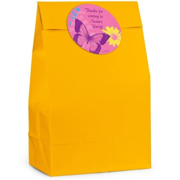Butterfly Birthday Personalized Favor Bag (Set Of 12)