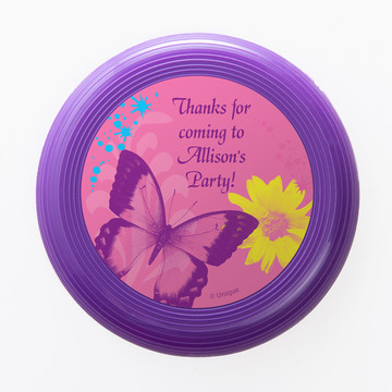 Butterfly Birthday Personalized Mini Discs (Set of 12)