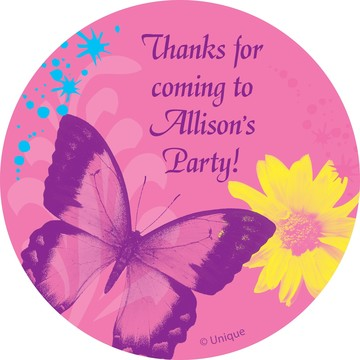 Butterfly Birthday Personalized Sticker