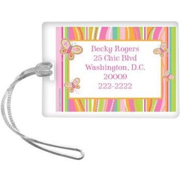 Butterfly Personalized Luggage Tag (each)