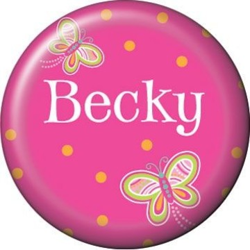 Butterfly Personalized Mini Button (each)