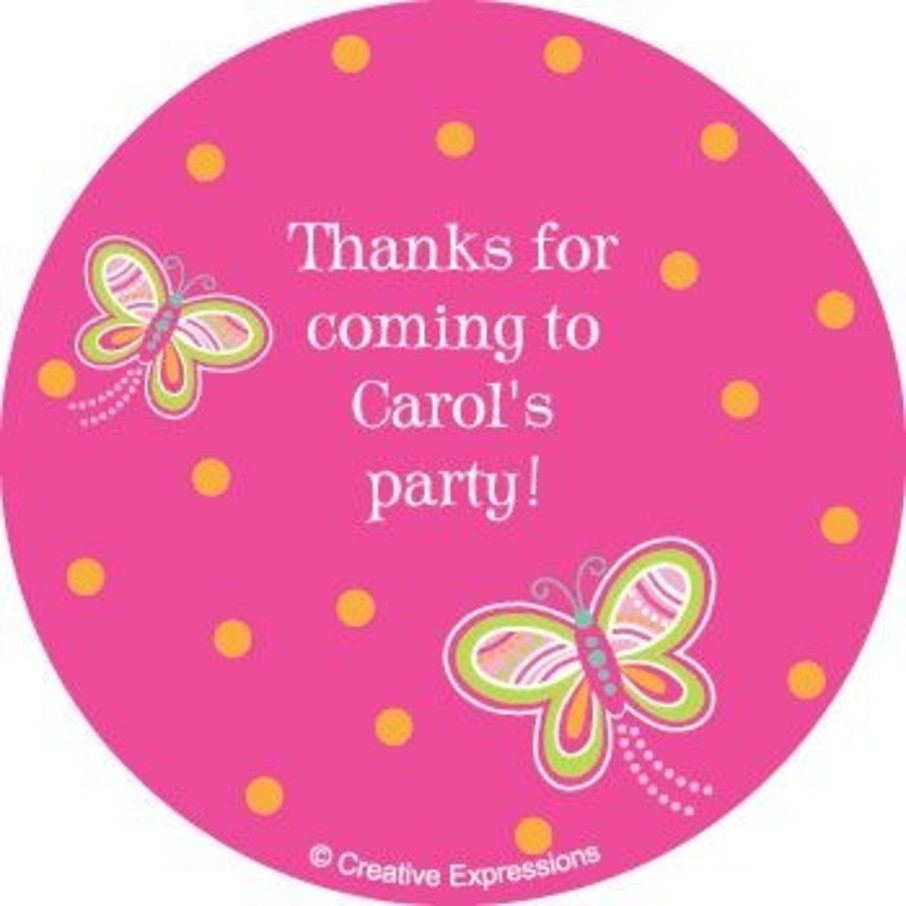 View larger image of Butterfly Personalized Stickers (sheet of 12)