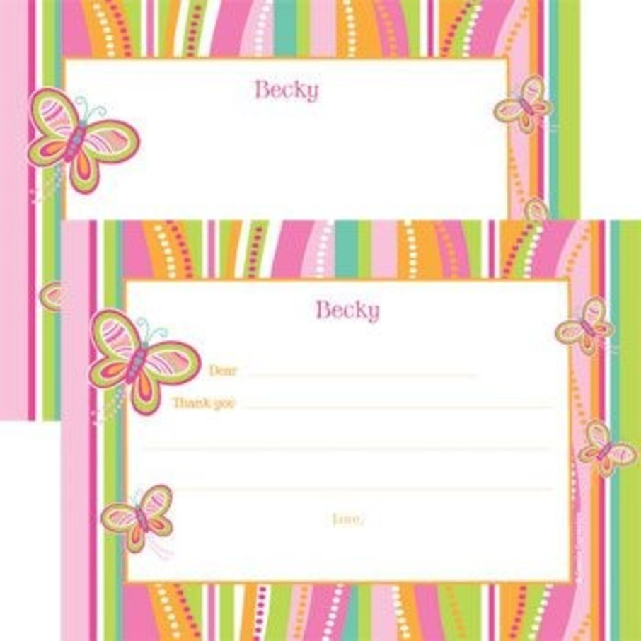 View larger image of Butterfly Personalized Thank You Note (each)
