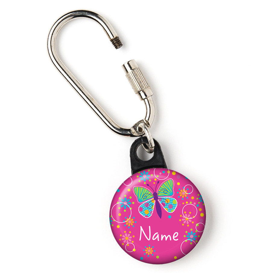 "View larger image of Butterfly Sparkle Personalized 1"" Carabiner (Each)"