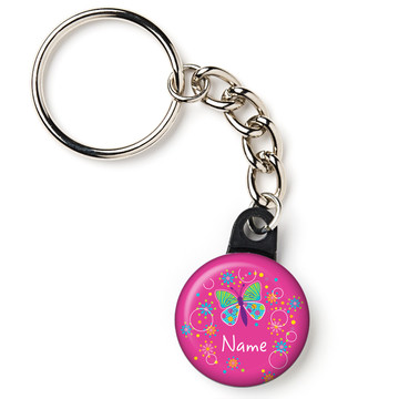 "Butterfly Sparkle Personalized 1"" Mini Key Chain (Each)"