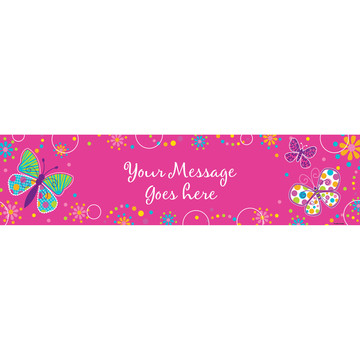 Butterfly Sparkle Personalized Banner (Each)