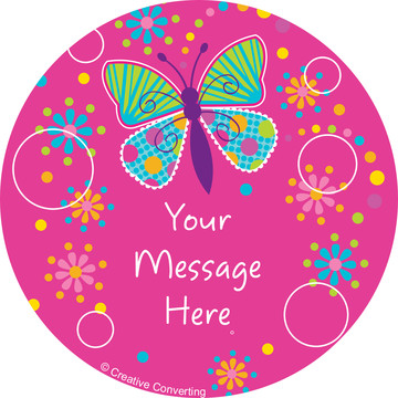 Butterfly Sparkle Personalized Mini Stickers (Sheet of 24)