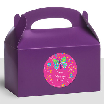 Butterfly Sparkle Personalized Treat Favor Boxes (12 Count)