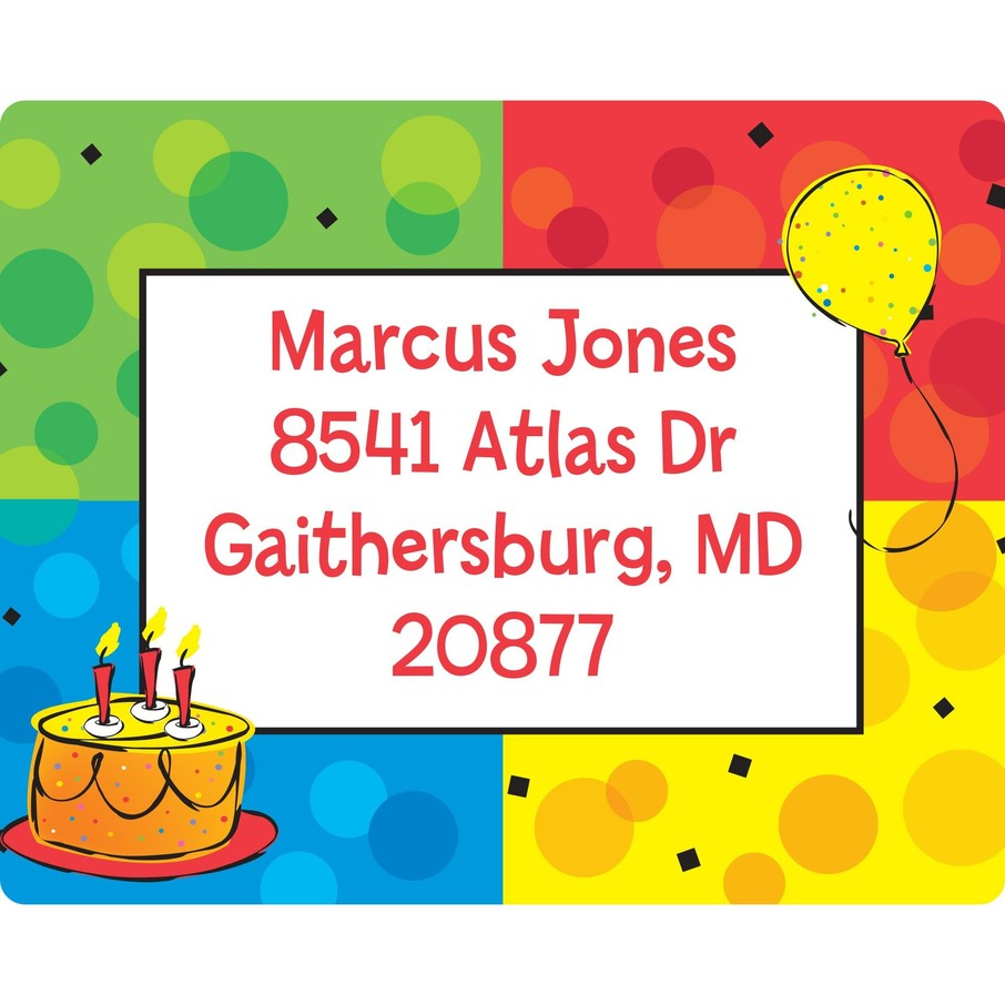 View larger image of Cake Celebration Personalized Address Labels (Sheet of 15)